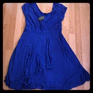 Torrid Electric blue bird print wrap dress